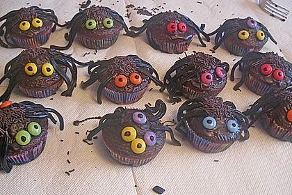 Spinnenmuffins für Halloween 11