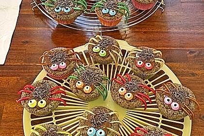 Spinnenmuffins für Halloween 3