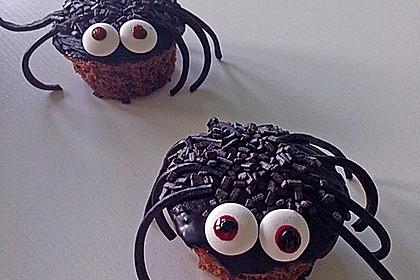 Spinnenmuffins für Halloween 8