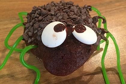 Spinnenmuffins für Halloween 5