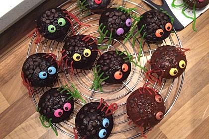 Spinnenmuffins für Halloween 22
