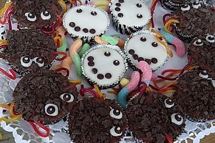 Spinnenmuffins für Halloween 9