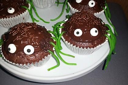 Spinnenmuffins für Halloween 13