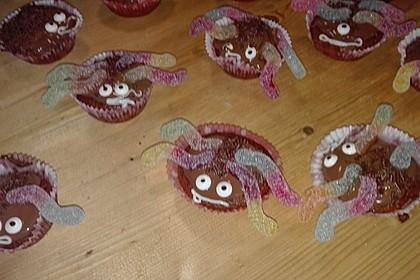Spinnenmuffins für Halloween 31