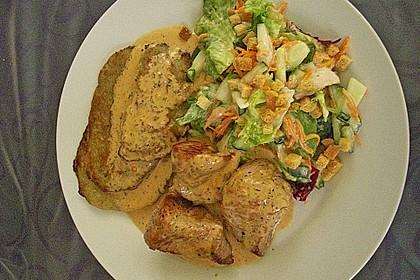 Kartoffelpuffer mit Schweinefilet und Salat 0