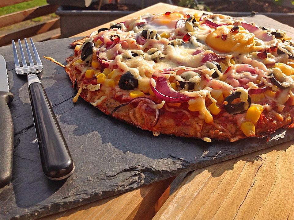 Sommerküche Low Carb : Low carb pizza von bambulaa chefkoch.de