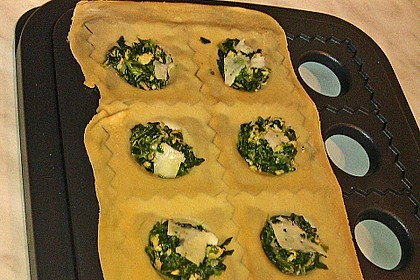 Nudeltaschen mit Spinat-Lachs Füllung 1