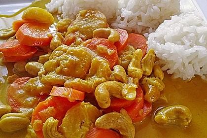 Cashew-Möhren-Kokos Curry