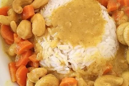 Cashew-Möhren-Kokos Curry 1