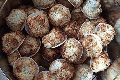 Kokosmakronen ohne Ei