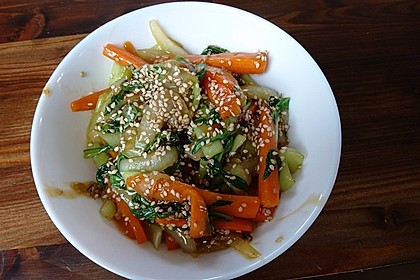 Schnelles Pak Choi-Karotten-Gemüse 19