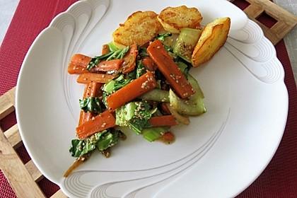 Schnelles Pak Choi-Karotten-Gemüse 23