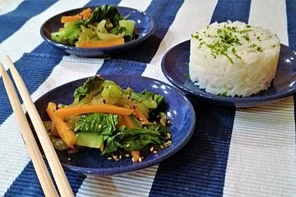 Schnelles Pak Choi-Karotten-Gemüse 12