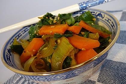 Schnelles Pak Choi-Karotten-Gemüse 3