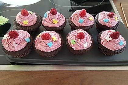 Schoko-küsst-Himbeer Cupcakes 14