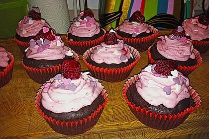 Schoko-küsst-Himbeer Cupcakes 48