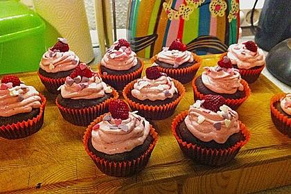 Schoko-küsst-Himbeer Cupcakes 81