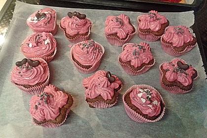 Schoko-küsst-Himbeer Cupcakes 87