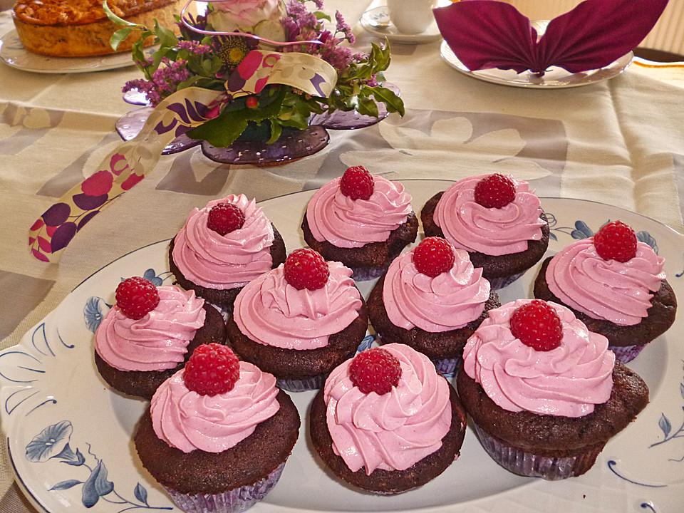 schoko k sst himbeer cupcakes rezept mit bild von dalmatina. Black Bedroom Furniture Sets. Home Design Ideas