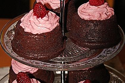 Schoko-küsst-Himbeer Cupcakes 68