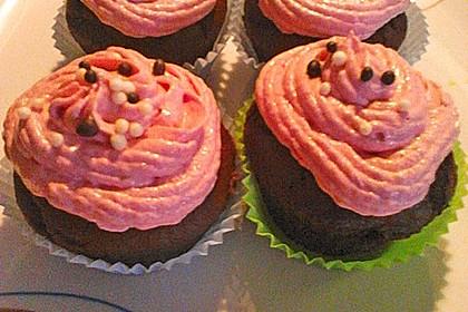 Schoko-küsst-Himbeer Cupcakes 97