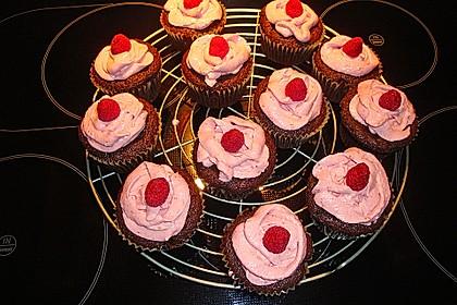 Schoko-küsst-Himbeer Cupcakes 86