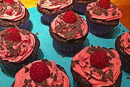 Schoko-küsst-Himbeer Cupcakes 35