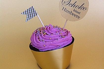 Schoko-küsst-Himbeer Cupcakes 31
