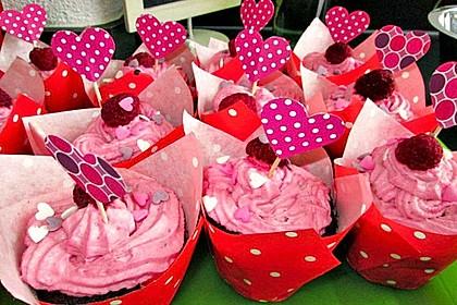 Schoko-küsst-Himbeer Cupcakes 45