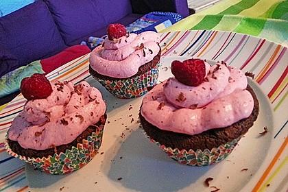Schoko-küsst-Himbeer Cupcakes 70