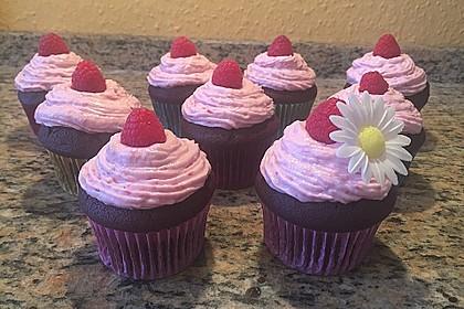 Schoko-küsst-Himbeer Cupcakes 17