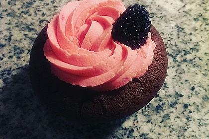 Schoko-küsst-Himbeer Cupcakes 9