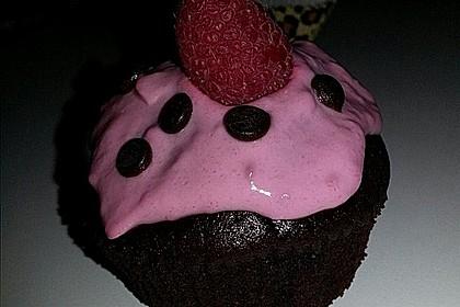 Schoko-küsst-Himbeer Cupcakes 85