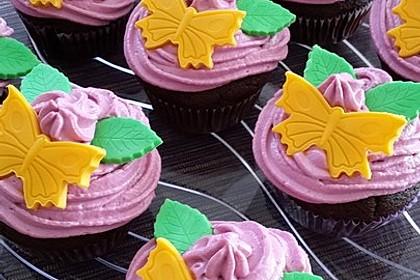Schoko-küsst-Himbeer Cupcakes 18