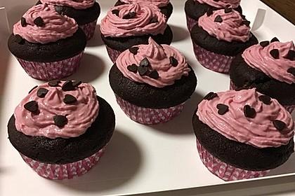 Schoko-küsst-Himbeer Cupcakes 58