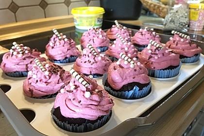Schoko-küsst-Himbeer Cupcakes 44