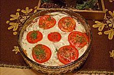 Auberginen-Tomaten-Schichtsalat