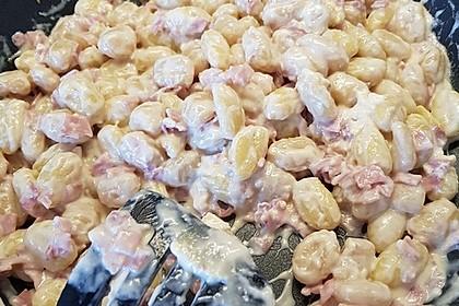 Gnocchi mit Käse-Knoblauch-Schinken-Soße 45