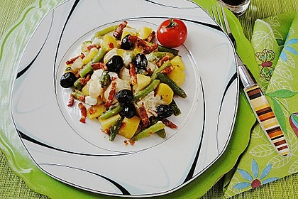 Mediterraner Bohnen-Kartoffel-Salat de Luxe