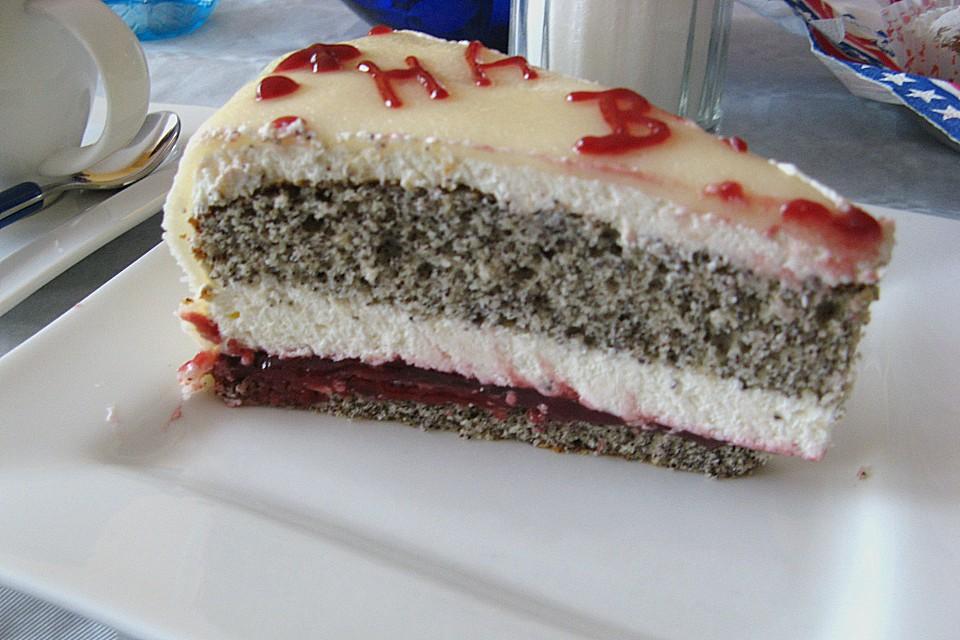 Mohn marzipan torte von fr chtchen65 - Torten dekorieren mit marzipan ...