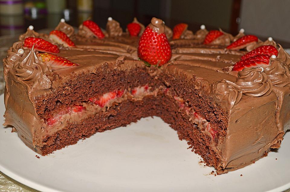 erdbeer schokoladen torte rezept mit bild von dashonigkuchenpferd. Black Bedroom Furniture Sets. Home Design Ideas