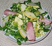 Feldsalat mit Kasseler und Birnen