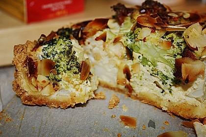 Blumenkohl-Brokkoli-Mandel-Quiche