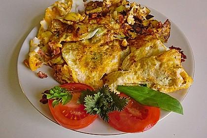 Bauernfrühstück mit Frühlingswildkräutern 1