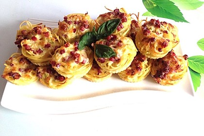 Spaghetti Carbonara-Muffins 2