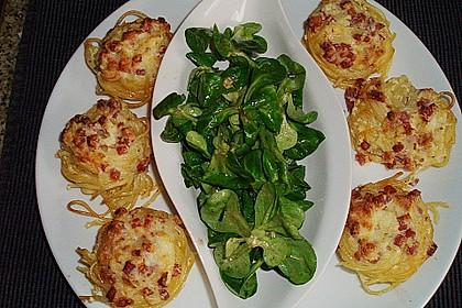 Spaghetti carbonara-Muffins 9