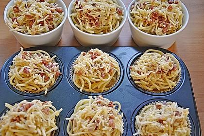 Spaghetti carbonara-Muffins 15