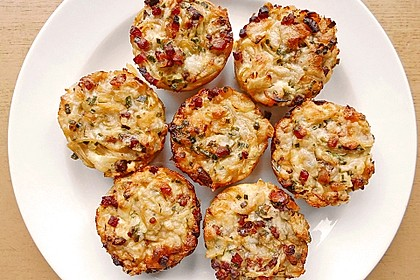 Spaghetti carbonara-Muffins 22
