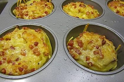 Spaghetti carbonara-Muffins 39