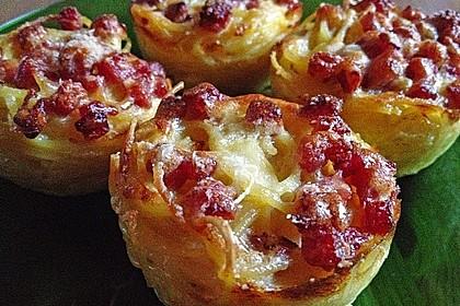 Spaghetti carbonara-Muffins 17